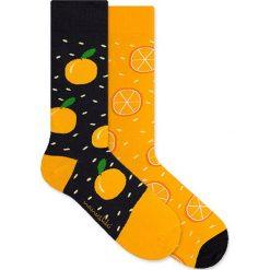Nanushki - Skarpetki Crazy Orange. Brązowe skarpetki damskie marki Nanushki, z bawełny. Za 25,90 zł.