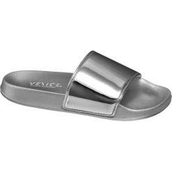 Klapki damskie: klapki damskie Venice srebrne