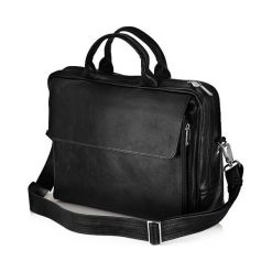 Torby na ramię męskie: Skórzana męska torba, na laptop Solier REMI czarna