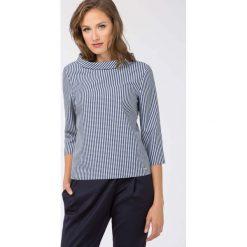 Bluzki asymetryczne: Bluzka w drobną kratę