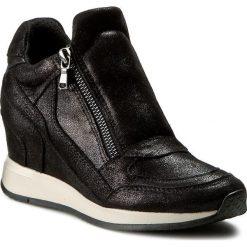 Sneakersy GEOX - D Nydame A D620QA 000MA C9999 Black. Czarne sneakersy damskie Geox, z gumy. W wyprzedaży za 419,00 zł.