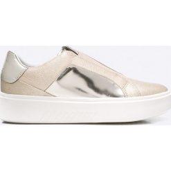 Geox - Buty. Szare buty sportowe damskie marki Geox, z materiału. W wyprzedaży za 359,90 zł.
