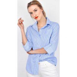 Koszule damskie: Koszula w paski z kołnierzykiem