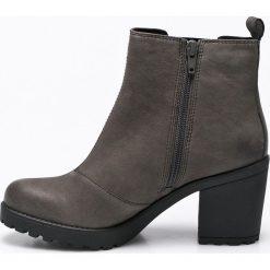 Vagabond - Botki. Czarne buty zimowe damskie marki Vagabond, z materiału, na obcasie. W wyprzedaży za 229,90 zł.