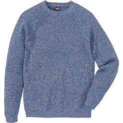 Swetry męskie: Sweter w prążek Regular Fit bonprix ciemnoniebieski melanż