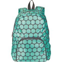 """Plecaki damskie: Plecak """"Dots"""" w kolorze zielono-szarym – 35 x 40 x 10 cm"""
