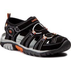 Sandały męskie skórzane: Sandały WALKY – CP40-857-1 Czarny