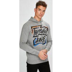 Trussardi Jeans - Bluza. Szare bluzy męskie rozpinane marki Trussardi Jeans, l, z nadrukiem, z bawełny, z kapturem. W wyprzedaży za 299,90 zł.