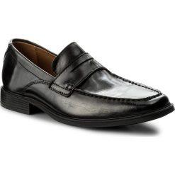 Półbuty CLARKS - Tilden Way 261315837 Black Leather. Czarne półbuty skórzane męskie marki Clarks. W wyprzedaży za 249,00 zł.