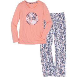 Piżama bonprix jasny koralowy z nadrukiem. Brązowe piżamy damskie marki NABAIJI. Za 69,99 zł.