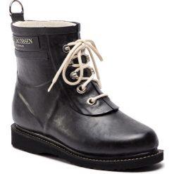 Kalosze ILSE JACOBSEN - RUB2 Black 01. Brązowe buty zimowe damskie marki Alma en Pena, z materiału, na obcasie. Za 579,00 zł.