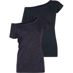 RED by EMP Mary Koszulka damska czarny/jasnofioletowy. Czarne bluzki damskie RED by EMP, xl, z dekoltem w łódkę. Za 121,90 zł.