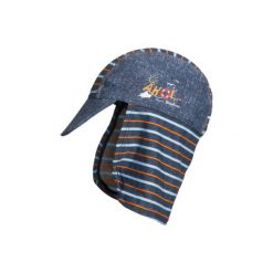 Playshoes  Czapka UV Ahoi, niebieski. Niebieskie czapeczki niemowlęce marki Playshoes, z elastanu. Za 59,00 zł.
