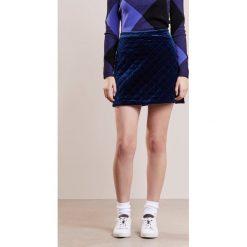 Minispódniczki: Sonia by Sonia Rykiel JUPE MATELASSE FLUID VELVET Spódnica mini dark blue