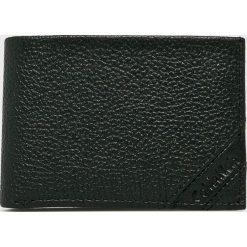 Calvin Klein - Portfel skórzany. Czarne portfele męskie marki Calvin Klein, z materiału. Za 229,90 zł.