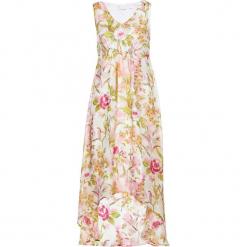 Sukienka z nadrukiem bonprix cytrynowy sorbetowy - pudrowy jasnoróżowy z nadrukiem. Żółte sukienki rozkloszowane bonprix, z nadrukiem. Za 54,99 zł.