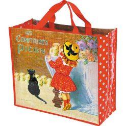 """Torba """"Confitures"""" w kolorze czerwonym ze wzorem na zakupy - 46 x 40 x 19 cm. Czerwone shopper bag damskie Éditions Clouet, z nadrukiem, z tworzywa sztucznego, z nadrukiem. W wyprzedaży za 26,95 zł."""