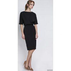 Sukienki hiszpanki: SUKIENKA DOPASOWANA DOŁEM, SUK123 czarny