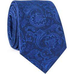 Krawat jedwabny KWNR000320. Niebieskie krawaty męskie Giacomo Conti, z bawełny. Za 129,00 zł.