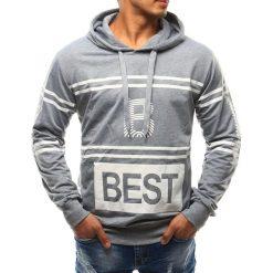 Bluzy męskie: Bluza męska z kapturem szara (bx2378)
