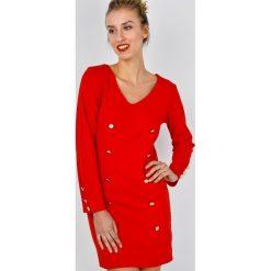 Sukienki: Sukienka ze złotymi guzikami