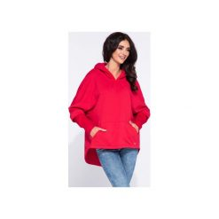 Czerwona sportowa bluza damska z kapturem. Czerwone bluzy rozpinane damskie Bien fashion, s, z bawełny, z długim rękawem, długie, z kapturem. Za 169,00 zł.