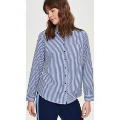 Koszula w paski - Niebieski. Koszule w niebieskie paski Sinsay, l. Za 59,99 zł.