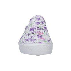 Chodaki damskie: Buty do sportów wodnych Casu  Białe klapki w kwiaty  5702