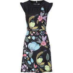 Sukienki: Sukienka z paskiem bonprix czarny z nadrukiem