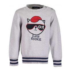 Odzież chłopięca: Blue Seven Chłopięcy Sweter Z Kotem, 74, Szary