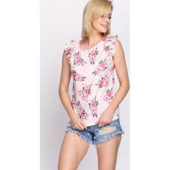 Bluzki asymetryczne: Różowa Bluzka Bracer