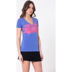 T-shirty damskie: T-shirt w kolorze fioletowym