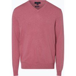 Andrew James - Sweter męski z dodatkiem kaszmiru, różowy. Czerwone swetry klasyczne męskie Andrew James, m, z kaszmiru, z dekoltem w serek. Za 229,95 zł.