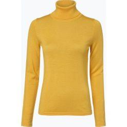 Brookshire - Sweter damski z domieszką wełny merino, żółty. Czarne swetry klasyczne damskie marki brookshire, m, w paski, z dżerseju. Za 179,95 zł.