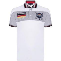 """Koszulki polo: Koszulka polo """"Woods"""" w kolorze biało-szarym"""
