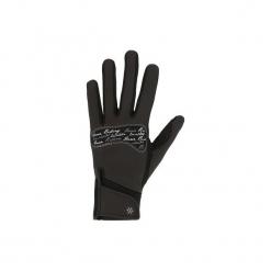 Rękawiczki jeździeckie Kipwarm. Czarne rękawiczki męskie FOUGANZA, z poliamidu. Za 59,99 zł.