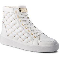 Sneakersy GUESS - FLACE3 LEA12 White. Niebieskie sneakersy damskie marki Guess, z materiału. W wyprzedaży za 439,00 zł.