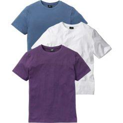 T-shirt (3 szt.) bonprix jagodowy + niebieski dżins + biały. Fioletowe t-shirty męskie marki Reserved, l, z bawełny. Za 68,97 zł.