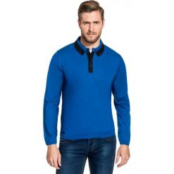 Sweter FLAVIO 15-73JK. Czarne swetry klasyczne męskie marki Giacomo Conti, m, z bawełny, z klasycznym kołnierzykiem. Za 169,00 zł.