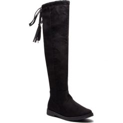 Muszkieterki MARCO TOZZI - 2-25645-21 Black 001. Czarne buty zimowe damskie marki Marco Tozzi, z materiału, na obcasie. W wyprzedaży za 209,00 zł.