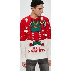 Brave Soul - Sweter. Szare swetry klasyczne męskie Brave Soul, l, z dzianiny, z okrągłym kołnierzem. W wyprzedaży za 99,90 zł.