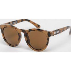True Spin - Okulary. Brązowe okulary przeciwsłoneczne męskie marki True Spin, z materiału, okrągłe. Za 49,90 zł.