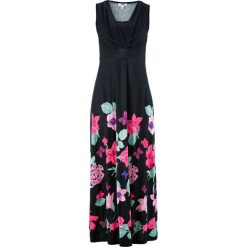 Sukienki: Długa sukienka bonprix czarny w kwiaty