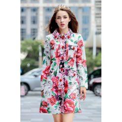 Płaszcze damskie: Płaszcz w kolorze bialym ze wzorem