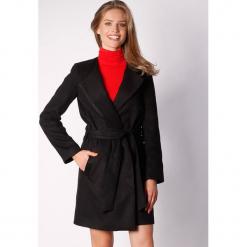 Płaszcz w kolorze czarnym. Zielone płaszcze damskie wełniane marki Last Past Now, xs, w paski. W wyprzedaży za 299,95 zł.