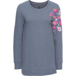 Bluzy rozpinane damskie: Bluza w kwiaty bonprix dymny niebieski w kwiaty