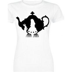 Alicja w Krainie Czarów Teapot Koszulka damska biały. Białe bluzki z odkrytymi ramionami Alicja w Krainie Czarów, l, z nadrukiem, z okrągłym kołnierzem. Za 74,90 zł.