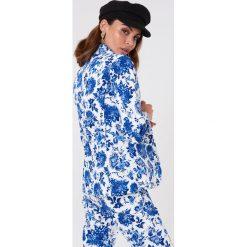 Marynarki i żakiety damskie: Rut&Circle Marynarka w kwiaty – Blue,Multicolor