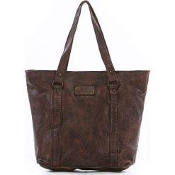 Shopper bag damskie: Shopper bag w kolorze brązowym – 28 x 30 x 12 cm