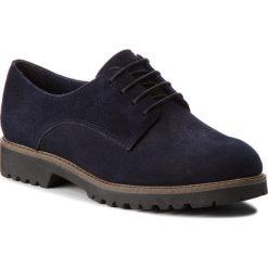 Oxfordy TAMARIS - 1-23294-30 Navy Suede 806. Niebieskie jazzówki damskie marki Tamaris, ze skóry, na obcasie. W wyprzedaży za 189,00 zł.